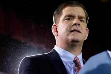 "Marty Walsh, the mayor-elect, often doesn't just skip the Y or the R in his new job title. He skips them both and says, ""maeh."""